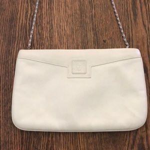 Anne Klein for Calderon Leather Clutch Bag, Cream
